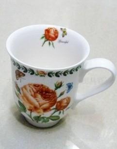 批发供应韩国家居用品 餐具 牡丹2P陶瓷杯子